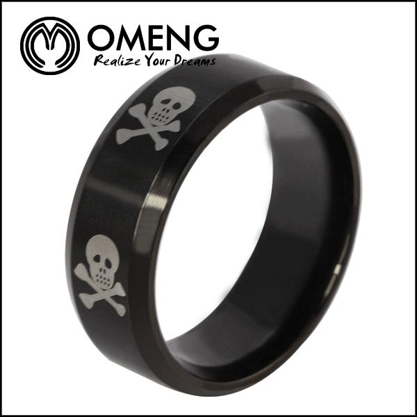 moda aço inoxidável crânio anéis baratos