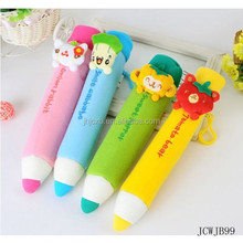 Unique Creative Cartoon Pencil Shaped Plush Lovely Children Stationery Case Bags For Kids