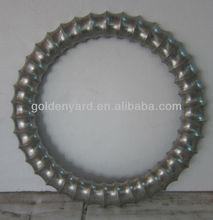 modernos y antiguos de plata círculo de la pu marco del espejo
