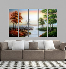 Hand-Painted Group 5 Piece Canvas Wall Art