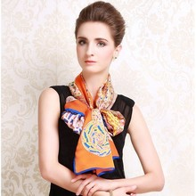 Wholesale New Design Fashion High Quality Lady 100% Silk Scarf