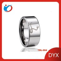 High quality new design Mens cheisel tungsten rings made from rings factory