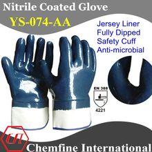 Anti- microbiana recubierto de nitrilo guantes de trabajo