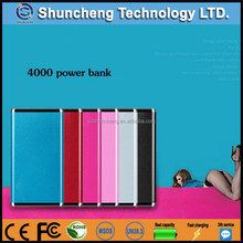 2015 new arrival ultra slim hot saling power pack 4000 battery pack