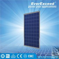 EverExceed High Quality 290w Polycrystalline Solar Panel made of Grade A solar cell for grid-on/off solar system