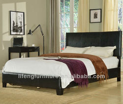 Living furniture Wooden Frame, Nice PU Leather Bed