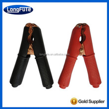 plastic battery alligator clip with stainless steel teeth