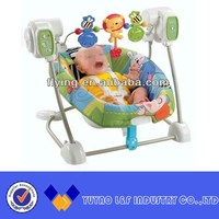 automatic baby swing with safety strap