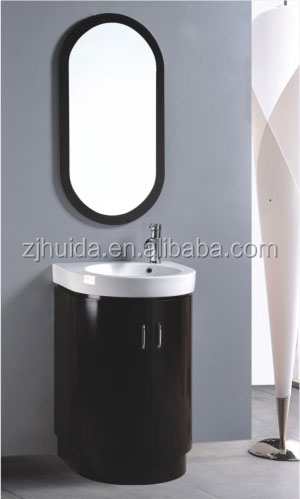 Corner cabinet pvc floor standing bathroom vanity oval for Floor standing corner bathroom cabinet