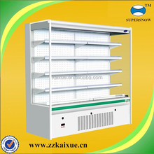 Adjustable shelves multi-deck open cooler for supermarket