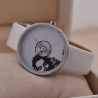 2014 newest promotional ladies silver stainless steel watch