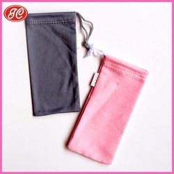 Plain style microfiber suede bag drawstring for sun glasses/mobile