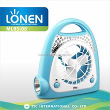 LONEN 24+1 LED emergency night Lamp cum rechargeable portable fan