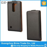 Factory Supply Unique Design Vertical Flip Magnetic Button Mobile Phone Pu Leather Case for Lg G4