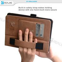 High quality hand holder kickstand leather cases for ipad mini 3, for ipad mini 3