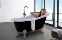bathroom design european style black classic bathtub