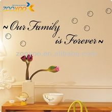 ZY8179 Removable Vinyl Family Is Forever Wall Decals Art Quote Wall Decorative Stickers