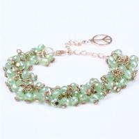 fashion crystal beads good luck bracelet