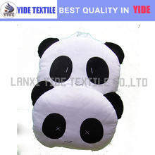 funny panda shaped plush multi function cushion and blanket in one