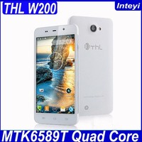 THL W200 5.0 inch HD MTK6589 quad core, 8MP+5MP big screen android phone 3G mobile