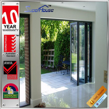 Australian standard thermal break double glazing aluminium sliding folding partition doors