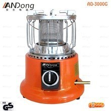 Blue flame gas heater