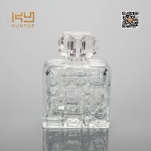 100ml jewelry shape perfume bottle with diamond cut cap