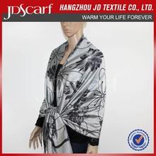 Newest Fashion Flower Viscose Rayon scarf/shawl For Women