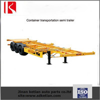 3 Axles 40Tons container flatbed semi trailers for sale