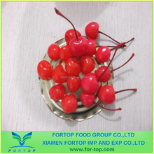 Sweet Canned Fruit Red Cherry with Stem