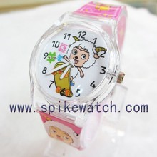 Attractive super thin customizeed dial PVC strap electronic watch hand
