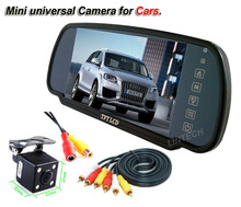 2 videos input 7 inch car mirror camera back car parking system