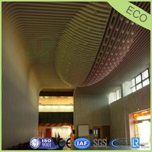 arc shape aluminum ceiling for shopping mall