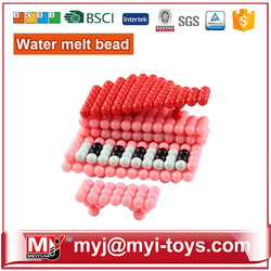 JM021814 2015 Fashion Children Educational Creation DIY Toy ! Colorful Customized Plastic Perler Beads ! Cute Clear Package Box