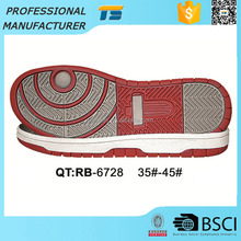 Alibaba unisex comfortable Rubber skateboarding shoes sole rubber red outsole material