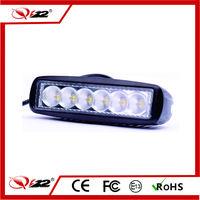 """New goods super slim led light bar 18w led car roof light bar spot flood 6"""" single row led work light bar"""