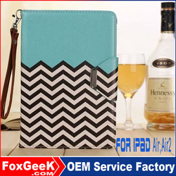 Wholesale Leather Flip Cover Case For iPad Air 2 Case Cover, Leather Case for ipad 4/for ipad 6