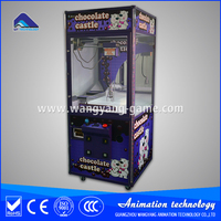 Chocolate castle crane machine chocolate claw crane machine candy vending machine for sale