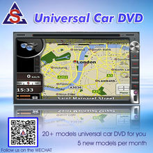6.95inch universal double din central multimedia navigation with bluetooth for toyota nissan volkswagen