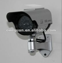 Wireless rotating solar powered indoor/outdoor security dummy camera