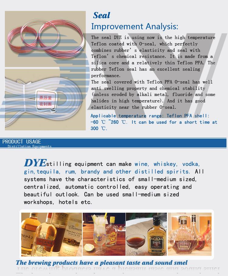 Alambic cuivre de distillation de l'alcool pour la vente de ce matériel