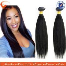 2015 top fashion light yaki human hair weave, unprocessed virgin brazilian hair