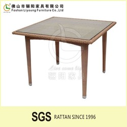 Hotsale Outdoor Garden Teak PS Polyester Poly Wood Glass top Wooden Furniture Dining Table kids bedroom furniture sets cheap