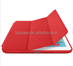 Newest Three folding smart case for ipad air 2 leather cover