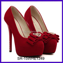 SR-15WHE1349 new red fashion women sex high heel shoes well-selling high heel shoes for girls china ladies party shoes high heel