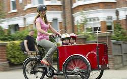 2015 hot sale three wheel danish electric moped cargo tricycle / trike / bike / bicycle