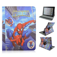 Jumping Spider-man Rotate Flip Stand PU Leather Cover Case For Apple iPad 2/3/4,For ipad air 2,For ipad mini 1/2/3 Tablet