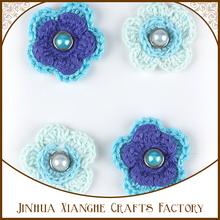 Hermosa colección de patrones decorativos punto de ganchillo flor Embellecimiento