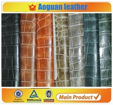 2016 faux crocodile leather for lady bags and shoes