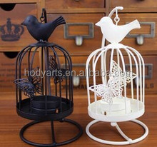 Wholesale New Design for Home decoration Metal Bird Cage Candle Holder
